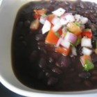 Spicy Slow Cooker Black Bean Soup - Dried black beans are cooked all day in a slow cooker with chicken broth, canned jalapenos, cumin, chili powder and cayenne pepper.