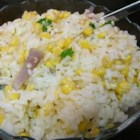 Corn and Rice Medley - Basmati rice is combined with corn, shallots and fresh mint, for a refreshingly different rice dish.