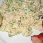 Old Fashioned Macaroni Salad - For a perfect picnic salad, mix canned tuna with crunchy bell peppers and celery, toss with garlic powder, mayonnaise and mustard, add salt and pepper to taste, then stir in cooked macaroni and chill a bit to let the flavors meld.