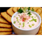 Shrimp Dip I - A creamy, hot shrimp dip with shrimp and green onion. Serve with crackers.