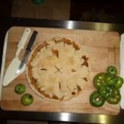 Green Tomato Pie I - A great way to use those end-of-season tomatoes! This is my mom's recipe.