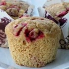 Cranberry Muffins - Use this scratch recipe to make zesty cranberry muffins with a slight citrus accent via orange zest and orange juice.