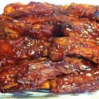 Sylvia's Ribs - Ooey gooey good!  Never a leftover. You can also add finely chopped onions, soy sauce, etc.