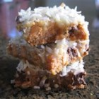 Seven Layer Bars - Easy to make, and very rich. Can use different kinds of chips (vanilla or peanut butter) to suit your taste.