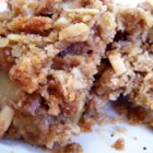 Nana's Apple Crisp - Apples are covered with an oat and cinnamon crumble, topped with butter and baked -- very quick to assemble!