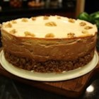 Persimmon Cheesecake - This light and delicious cheesecake is made with fresh persimmons and a walnut crust.