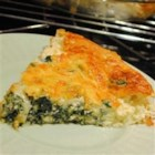 Spinach Pie - This yummy breakfast pie looks like a quiche but only takes minutes to make.