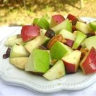 Waldorf Salad with Walnut Oil Vinaigrette - A wonderful light Waldorf Salad with no mayo. The flavors of the apples, walnuts and raisins are so clean and fresh. It never fails to please.