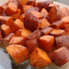 Cinnamon Sweet Potato Slices - Wonderful slightly sweet baked potato slices. Ingredients amounts are only a suggestion. I always keep a cinnamon/sugar blend on hand.