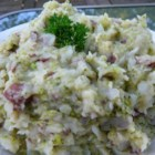 Cheap Irish Colcannon - This is a college try on a traditional favorite. Sometimes you're too poor to get all the ingredients for colcannon. It's a good quick filler for lunches in college.