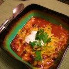 Vegetarian Tortilla Stew - A delicious tortilla soup for vegetarians! The veggie chicken is optional, but adds a nice texture that will please purists.