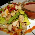 BBQ Chicken Salad - This lively salad of grilled chicken, corn, bell pepper, and onion is dressed with a tangy mixture of barbeque sauce and mayonnaise.