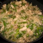 Risotto with Chicken and Asparagus - A delicious, authentic-tasting Italian risotto with chicken and asparagus. Perfect with a glass of Italian wine!