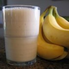 Banana Blast II - Bananas, milk, a hint of brown sugar, cold water, and crushed ice make a refreshing not-too-thick smoothie.