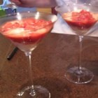 Strawberries Flambeed in Vodka with Hot Ice Cream - An exotic dessert that joins strawberries, vodka, ice cream and hot pepper!