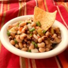 Black-Eyed Pea and Jalapeno Salsa - Black-eyed peas inspired this fast and flavorful salsa that mixes pimentos, mushrooms, celery, onion, and pickled jalapeno peppers. Serve it with tortilla chips or pita crisps to make a zesty appetizer.
