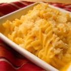 Campbell's Baked Macaroni and Cheese - This extra-easy version of a classic favorite, this casserole features a special cheesy sauce for cloaking pasta and a crunchy bread crumb topping.