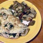 Herbed Chicken Omelet - Tender chunks of leftover chicken provide a nice change of pace from the usual ham in the omelet Sonja Blow makes in Groveland, California. 'Served with toast and tomato slices, it's a special breakfast for two,' she notes.