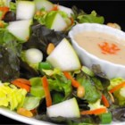 Pear Vinaigrette - This light and lovely salad dressing made with fresh, ripe pear lends itself well to a simple and elegant salad.