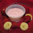 Easy Fruit Dip - Easy and delicious fruit dip. Always a hit, and the kids LOVE IT. Slice up a selection of fruit and snacks to serve with the dip. My family likes apples, strawberries, cantaloupe, grapes, pretzels, raisin bread, or muffins.