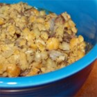 Breadless Stuffing - Garbanzo beans take the place of any bread product in this stuffing recipe.