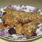 Cranberry Crunch Squares - Tangy, tart, sweet cranberries topped with oats and brown sugar.