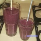 Quick Berry Milkshake - Mixed berries, milk, sugar, vanilla and ice cubes. Quick and berry-licious.