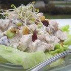 Sleepy Hollow Chicken Salad Supreme - This delightful chicken salad is blended with pineapple tidbits, raisins, and curry powder. If you prefer, you can use turkey instead.