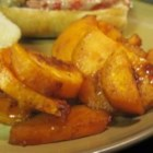 Cinnamon Roasted Sweet Potatoes - Slices of sweet potato baked with cinnamon and brown sugar.  The caramelized brown sugar make these potatoes taste like candy! I attended a catered dinner and the caterer served these with a beautiful turkey dinner. I begged for the recipe, been making it ever since.