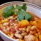 Butternut Squash and Turkey Chili - This is a delicious, filling chili.  Serve topped with sour cream and tortilla chips!