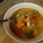 Zimbabwean Chicken and Vegetable Soup - This hearty and delicious soup combines a wonderful variety of vegetables with peanut butter, chicken, and a few red pepper flakes for unexpected flavors and just the right amount of kick.