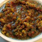 Caribbean-Style Sofrito - A colorful blend of red, green, orange, and yellow bell peppers, tomatoes, green onions, tomatillos, and garlic, sofrito is used to season rice, bean, and meat dishes throughout the Caribbean and Latin America.