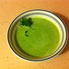 Green Velvet Soup - Broccoli, split peas and spinach provide the green in this pureed soup.