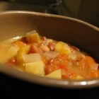 Lentil Soup IV - This easy soup contains lentils, garlic, onions, tomatoes, potatoes, carrots and even plantains!