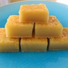 Guamanian Mochi - This desert is made with sweet rice flour, it's sticky, sweet, and so delicious!  I grew up with it at many family gatherings.  It's eaten on the island of Guam, where my family is from, and also Hawaii.