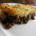 Cottage Pie - Cottage pie is a casserole of browned, seasoned ground beef, a layer of green peas, and a top of mashed potatoes. It's a humble dish, superb comfort food.