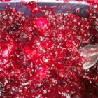 Three Cranberry Relish - An easy to prepare, cooked, cranberry relish. Goes great with ham, poultry and pork. Originally submitted to ThanksgivingRecipe.com.