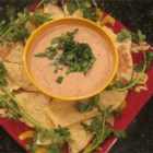 Super Bowl Salsa Dip - Enjoy this creamy cheese and sausage dip during the big game, or anytime!