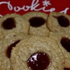 Uncle Mac's Peanut Butter and Jelly Cookies - Soft, tasty peanut butter cookies with a touch of jelly on top.  No flour needed.