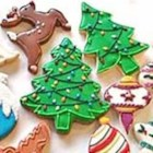 Christmas Tree Cookies - This is great dessert when you are having company. They are in the shapes of Christmas trees. Use green and red sprinkles and any kind of frosting to decorate.