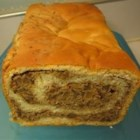 Potica - This traditional Eastern European bread is rolled up around a spiced raisin-nut filling.