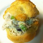 Chicken Salad Puffs II - Freshly baked pastry shells are filled with a celery and raisin chicken salad.