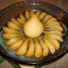 Baked Pear - Pears, peeled and drizzled with melted butter, honey, ginger, and lavender, then baked until tender. Not meant as a dessert, but rather as the perfect accompaniment to any of your favorite dishes containing blue cheese.