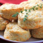Cheddar-Thyme Flaky Biscuits - Anxious to utilize my herb garden, I took advantage of my favorite biscuit recipe -- excellent with chicken and salad!