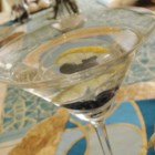 Lemon-Blueberry Martini - This is strong and fruity, but not too sweet at all. A few fresh blueberries finish the presentation.