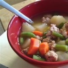 Ground Turkey Soup - Quick and easy 'warmer' for those cold days!