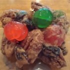 Christmas Lizzies - Fruit cake-like cookies.  Store in an  airtight container.  The can also be frozen. Cookies are better after a few days, they soften.