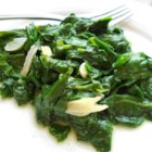 Garlic Spinach - Thinly sliced garlic is a simple way to jazz up plain old spinach. With just a touch of butter and a quick stir, you'll have a vegetable side dish that tastes great and pairs with just about anything!