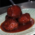 Ham Balls - Mix ground smoked ham, sausage and beef together with milk, eggs and graham cracker crumbs for a new spin on meatballs. Form into balls and bake in a tangy sauce of tomato, vinegar, brown sugar and mustard powder.