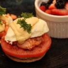 Eggs Benedict with Salmon - Eggs Benedict with a twist! A delicate yogurt and lemon sauce perfectly compliments savory smoked salmon.
